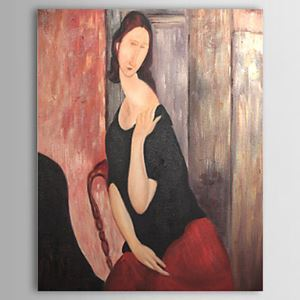 Hand-painted Oil Painting Jeanne Hebuterne by Modigliani with Stretched Frame