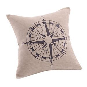 Stylish Compass Print Decorative Pillow Cases