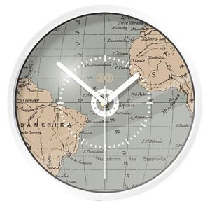 Stylish World Map Metal Wall Clock