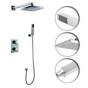 Shower Faucet with 8 inch Shower Head + Hand Shower