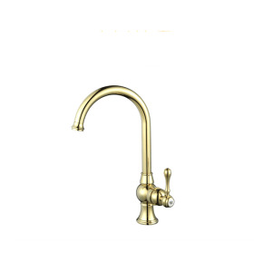 Ti-PVD Finish Solid Brass Contemporary Centerset Kitchen Faucet