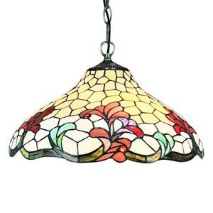 Tiffany 2 - Light Pendent Lights in Floral Pattern