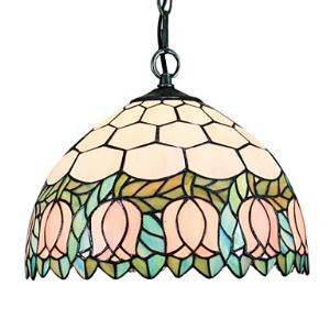Tiffany 2 - Light Pendent Lights in Pink Rose Pattern