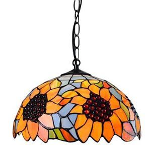 Tiffany Pendant Light with 1 Light Sunflower Design