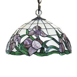 Tiffany Pendant Light with Floral Patterned Shade