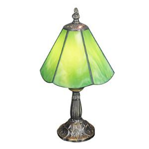 Tiffany Table Light with 1 Light with Green Shade