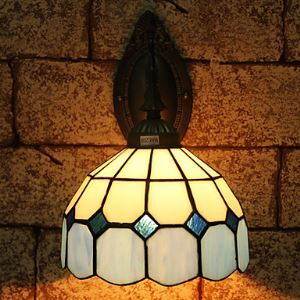 Tiffany Wall Light with 1 Light - Blue Featured