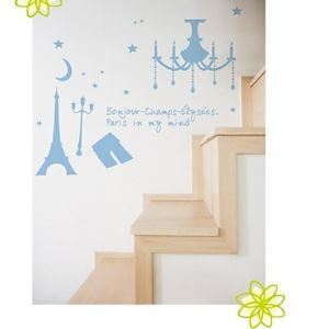 Tower Decorative Wall Sticker(0565-1105034)