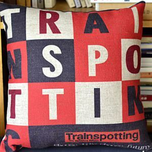 Trainspotting Cotton Decorative Pillow Cases for Christmas Holiday Decor Christmas Pillow Christmas Gifts