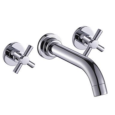 contemporary widespread bathroom sink faucet wall mount