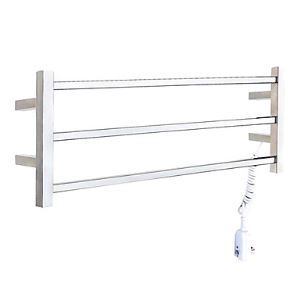 30W Wall Mount Polished Finish Circular Tube Towel warmer Drying Rack