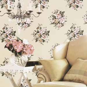 Venus Classical Country Style Big Floral Wallpaper 6 Colors