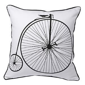 Vintage Bicycle Print Decorative Pillow Cover for Christmas Holiday Decor Christmas Pillow Christmas Gifts