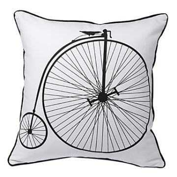 Bicycle Print Throw Pillow : Gifts - Christmas Supplies - Vintage Bicycle Print Decorative Pillow Cover for Christmas Holiday ...