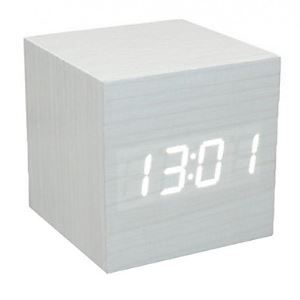 Voice Control LED Cube Led Alarm Clock