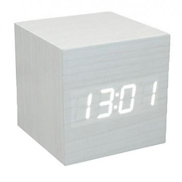 voice control led cube led alarm clock. Black Bedroom Furniture Sets. Home Design Ideas