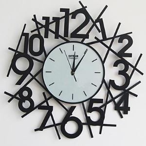 "18""Blow Up Number Wall Clock in Metal"