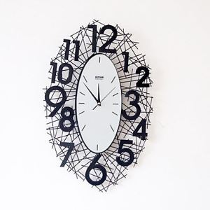 "24""Blow Up Number Wall Clock in Metal"