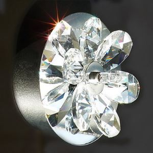 Crystal Wall Light with 2 Lights - Floral Shape