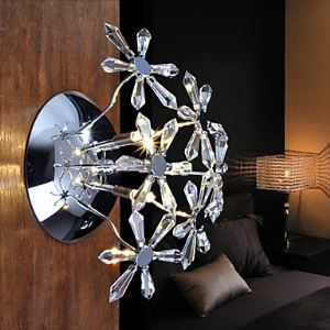 Crystal Wall Light with 3 Lights - Bouquet Design