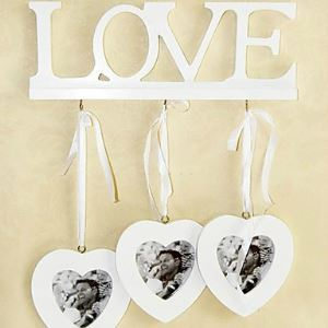White Love Wall Photo Frame set Collection - Set of 3