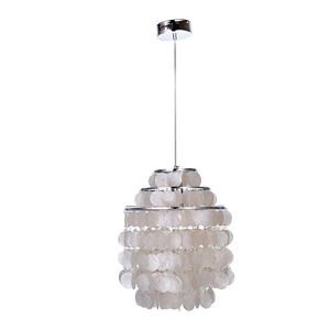 White Shell Pendant Chandelier (Chrome Finish)