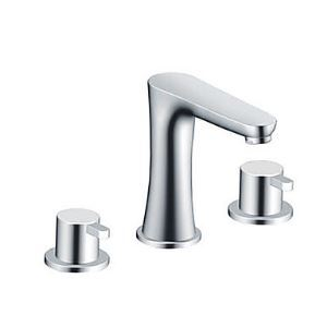 Widespread Contemporary Two Handles Bathroom Sink Faucet(Chrome Finish)