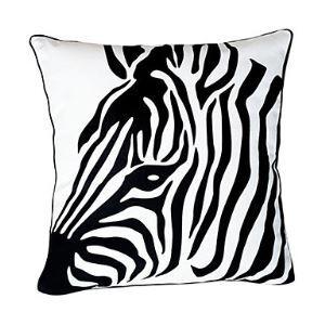 Zebra Printing Cotton Decorative Pillow Cover