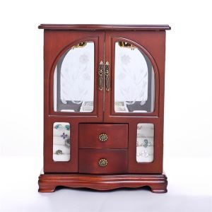 Minna 2 door jewelry box in Cherry finish