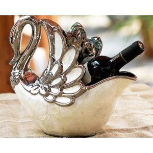 European Classic Artistic Shell Ceramic Swan Shell Wine Rack