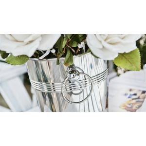 Contemporary Stainless-Steel Flower Bucket