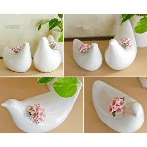 Contemporary Ceramic Bird Ornament (Sold Separately)