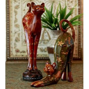 Southeast Asia Contemporary Polyresin Fortune Cat (Sold Separately)