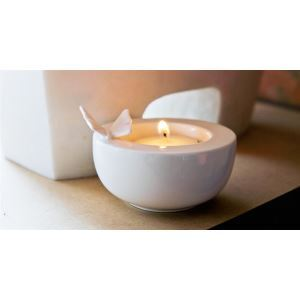 Contemporary Ceramic Butterfly Candleholder