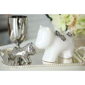 Contemporary Eletroplated Lovely Ceramic Doggie Set