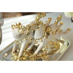 Contemporary Eletroplated Ceramic Horse Ornament