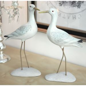 Contemporary Northern Europe Style Polyresin Bird Ornament (Sold Separately)