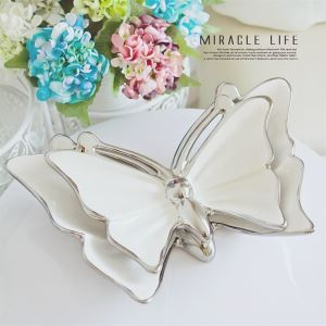 Post-Modernity Eletroplated Ceramic Butterfly Decroative Plate (Sold Separately)