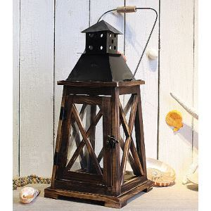 European Classic High-Grade Original Wood Aging Treatment Candle Holder