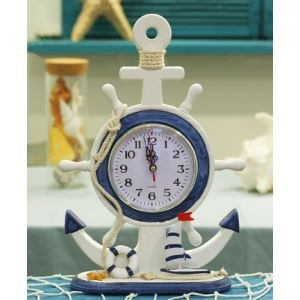 Mediterranean Style Decorative Helmsman Table Clock