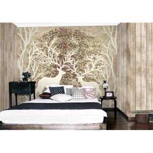 Contemporary Deer Forest Non-Woven Paper Mural