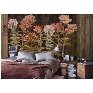 Contemporary Flowers Non-Woven Paper Mural
