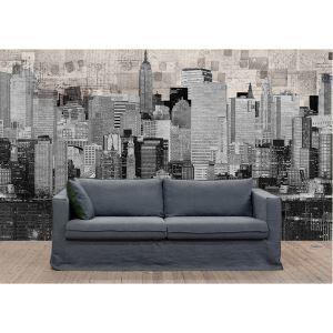 Contemporary City Non-Woven Paper Mural