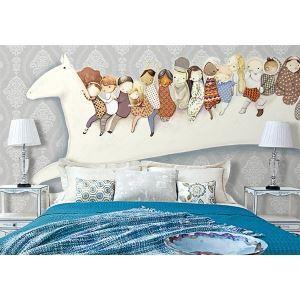 Contemporary Dream Hourse Children Non-Woven Paper Mural