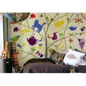 Contemporary Colourful Children Non-Woven Paper Mural