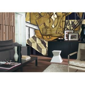 Contemporary Abstract Pattern Non-Woven Paper Mural