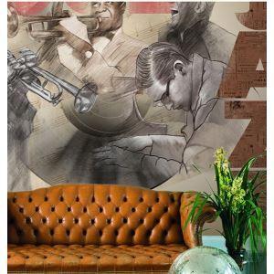 Contemporary Jazz Non-Woven Paper Mural