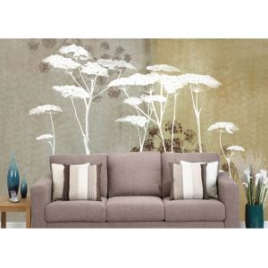 Contemporary Abstract Flowers Non-Woven Paper Mural