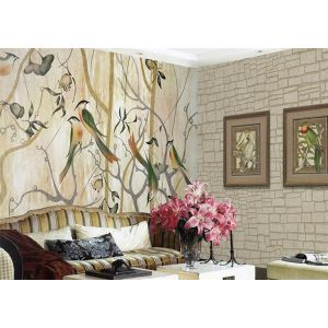 Contemporary Happy Forest Non-Woven Paper Mural