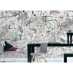 Contemporary Abstract Artistic Non-Woven Paper Mural